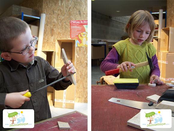 Atelier construire des jouets en bois