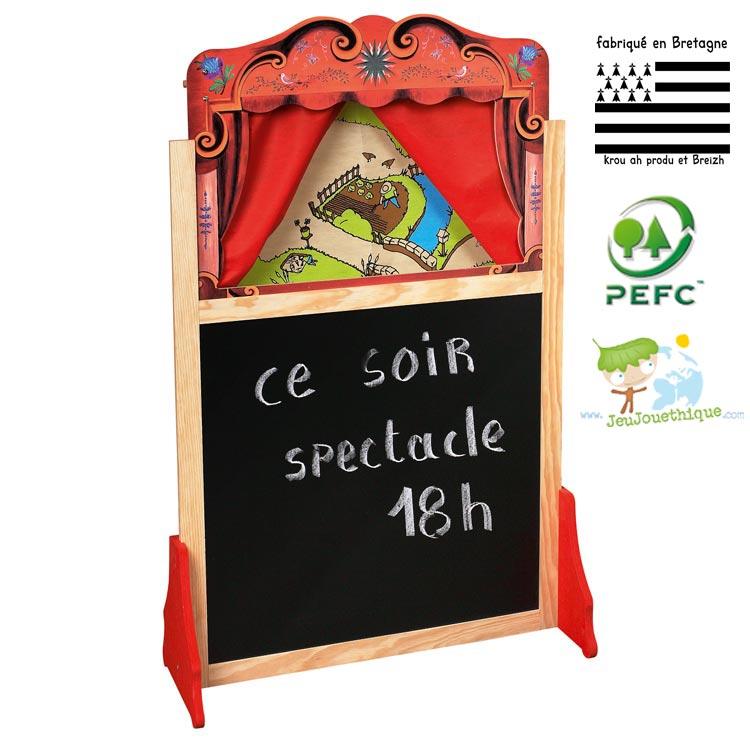 Les th tres de marionnettes pour enfants bien plus qu 39 un jeu blog jeujouethique - Fabriquer un theatre de marionnettes en bois ...