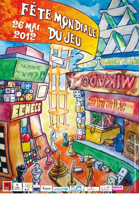 Affiche fête du jeu 2012