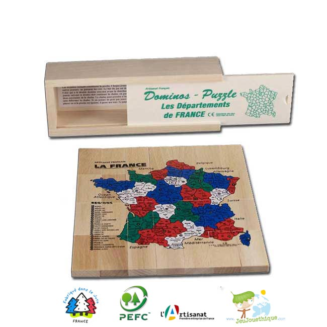 Dominos puzzle carte de france des départements